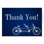 Folded Thank You Card Whimsical Navy Double Bike