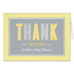 Folded Thank You Notes | Chic Type Yellow and Gray