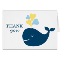 Folded Thank You Notes   Nautical Preppy Whale