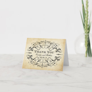 Folded Wedding Thank You Cards | Vintage Flourish