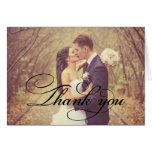 Folded Wedding Thank You Cards | Vintage Script
