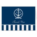 Folded Wedding Thank You Notes | Nautical Stripes Stationery Note Card