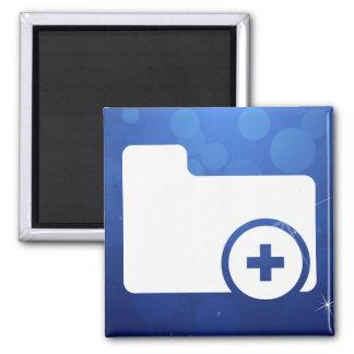 Folder Additions Minimal 2 Inch Square Magnet