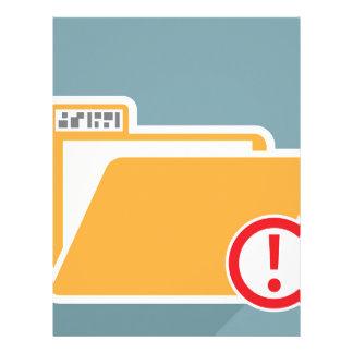 Folder Alert Unknown Attention Letterhead