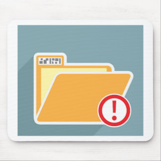 Folder Alert Unknown Attention Mouse Pad