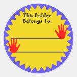 Folder Belongs to Sticker