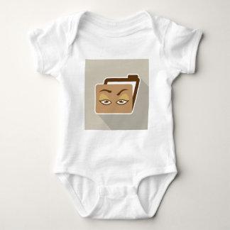Folder Icon with Eyes Baby Bodysuit
