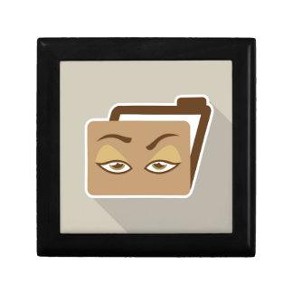 Folder Icon with Eyes Gift Box