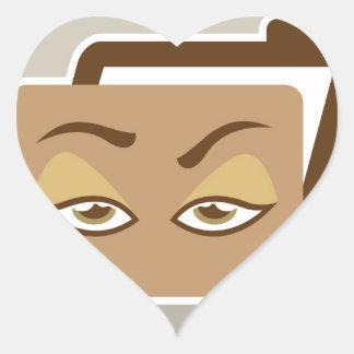 Folder Icon with Eyes Heart Sticker