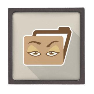 Folder Icon with Eyes Jewelry Box