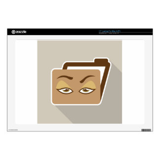 """Folder Icon with Eyes Skins For 17"""" Laptops"""