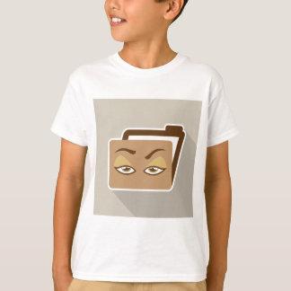 Folder Icon with Eyes T-Shirt