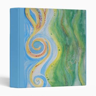 Folder or Binder Rolling Hills Swirly Sky