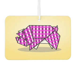 Folder Paper Pig Origami Illustration Air Freshener
