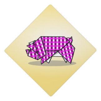 Folder Paper Pig Origami Illustration Graduation Cap Topper