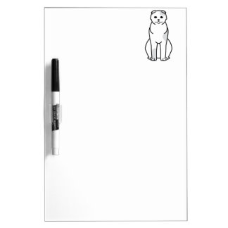 Foldex Cat Cartoon Dry-Erase Board
