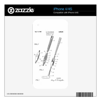 FOLDING GOLF CLUB PATENT - iPhone 4 skin