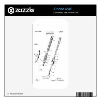 FOLDING GOLF CLUB PATENT - iPhone 4 skin