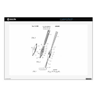 FOLDING GOLF CLUB PATENT - Laptop skin - 17""