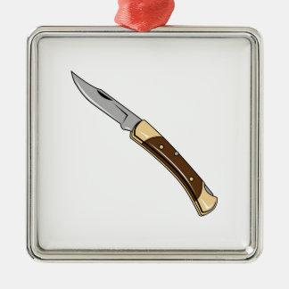 Folding Knife Metal Ornament