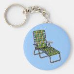 Folding Lawn Chair 2 Basic Round Button Keychain