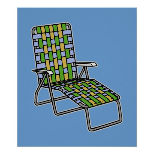 Folding Lawn Chair 2 Poster