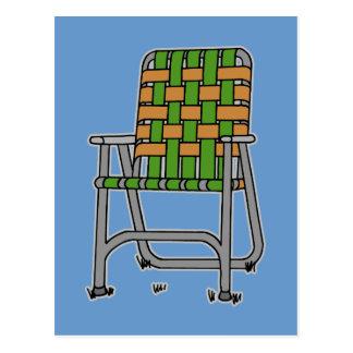 Folding Lawn Chair Postcard