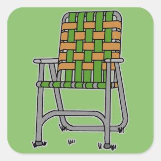 Folding Lawn Chair Square Sticker