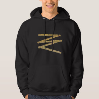 folding rule hooded sweatshirt