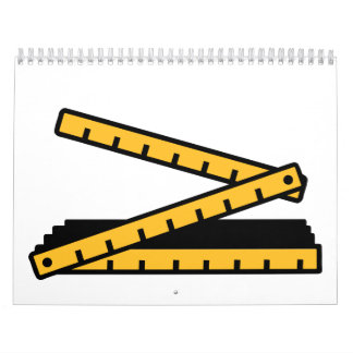 Folding rule yard stick calendar