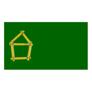 folding ruler - house shape