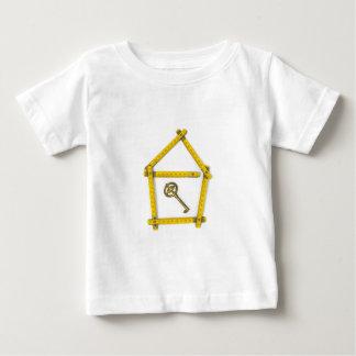 folding ruler, house shape and key baby T-Shirt