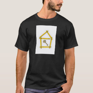 folding ruler, house shape and key T-Shirt
