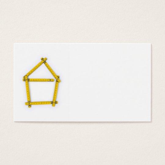folding ruler - house shape business card