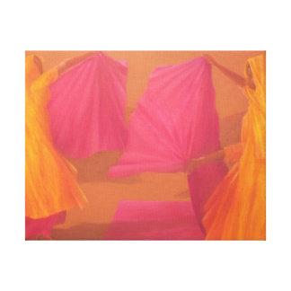 Folding Saris 2010 Canvas Print