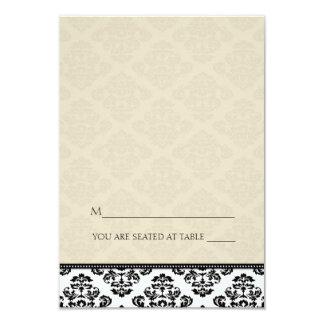 Folding Tent Ivory Damask Place Cards