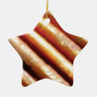 folds of copper ceramic ornament