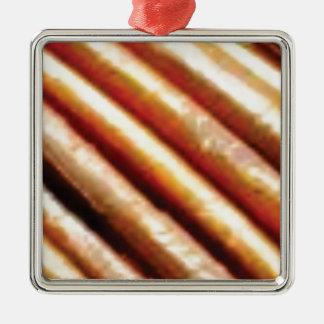 folds of copper metal ornament