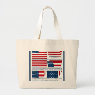 Folds of the Flag Canvas Bags