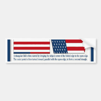 Folds of the Flag Bumper Sticker