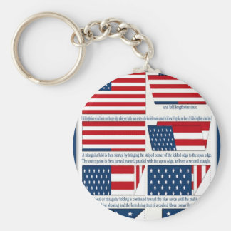 Folds of the Flag Keychain