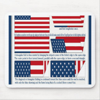Folds of the Flag Mouse Pad