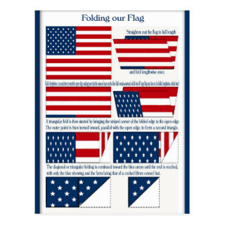 Folds of the Flag Post Card