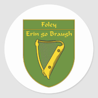 Foley 1798 Flag Shield Classic Round Sticker