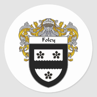 Foley Coat of Arms (Mantled) Classic Round Sticker