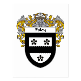 Foley Coat of Arms (Mantled) Postcard