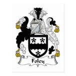 Foley Family Crest Postcard