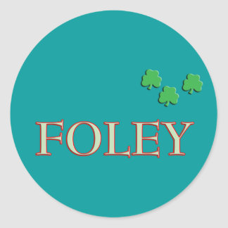Foley Family Name Classic Round Sticker