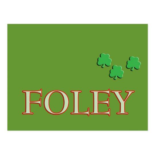 Foley Family Name Postcard
