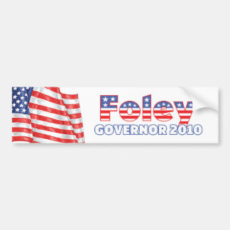 Foley Patriotic American Flag 2010 Elections Bumper Sticker